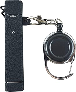 DSC-Mart Texture Silicone Case v2 with Leash for JUUL, Kaychain Anti-Loss Holder Compatible with Juul V2 Pen (Black)