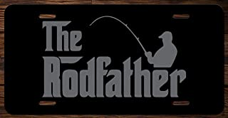 The Rodfather Fishing Funny Vanity Front License Plate Tag KCE022