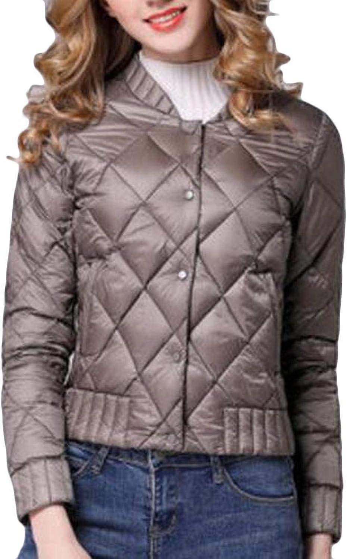 Alion Women's Loose Light Button Down Puffer Down Jackets