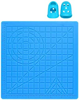 Poweka - Alfombrilla de diseño 3D de silicona para bolígrafo de impresión con modelo de base, con 2 puntas de silicona, herramientas grandes de dibujo de bolígrafo 3D MIKA3D