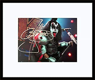 Framed Gene Simmons Kiss Photo Autograph with Certificate of Authenticity