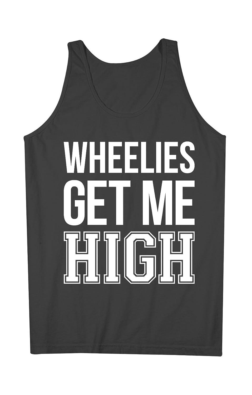 Wheelies Get Me High Bike Biker Motorcycle 男性用 Tank Top Sleeveless Shirt