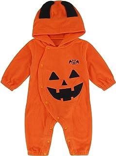 MOMBEBE COSLAND Baby Jungen Kürbis Halloween Kostüm Strampler
