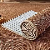 Tappeto Bamboo Stile Giapponese Camera da Letto Soggiorno Tavolino Tappeto in Bambù Estate La Zona Tappeti Pavimento Stuoia Carbonizzato,con Bordo in...