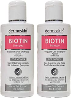 Dermo Biotin Hair Loss & Hair Regrowth Shampoo For Men 3 Bottles