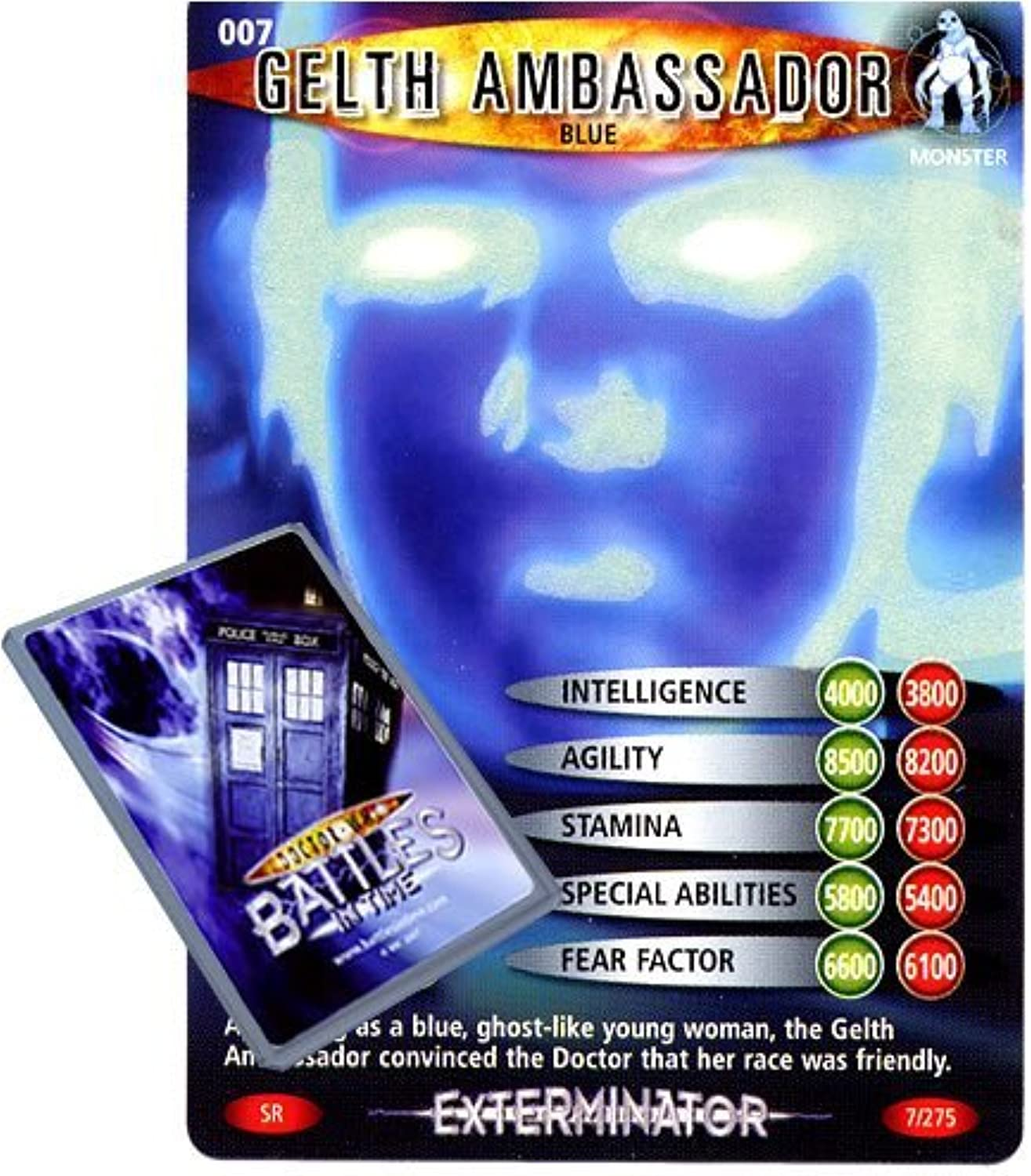 Doctor Who - Single Card   Exterminator 007 Gelth Ambassador bluee Dr Who Battles in Time Super Rare Card by Deckboosters