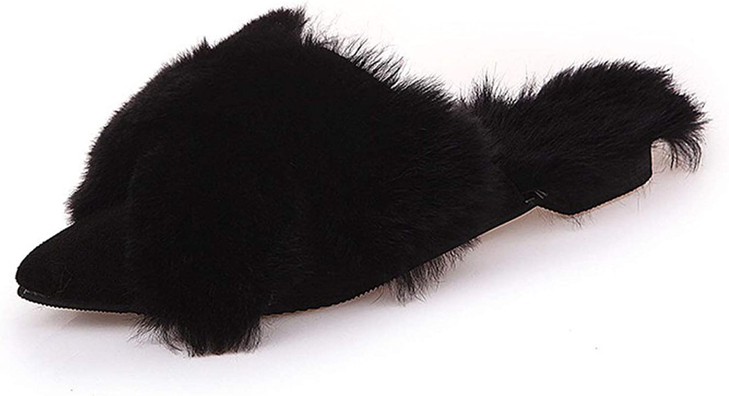 colorful Dream- Luxury Natural Genuine Hairy Ladies Cute Plush Fox Hair Fur Slippers Winter Warm Slippers