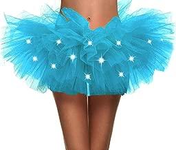 Toppers Womens Fairy Princess LED Light up 5 Layered Tulle Ballerina Tutu Skirt