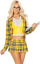 Sexy Clueless Schoolgirl Plaid Blazer and Skirt Halloween Costume
