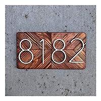 SHOUGONG 127ミリメートルPoortnummer HuisnummerホテルHuisnummerあるBuiten Huisnummer (Color : Silver, Size : 9)