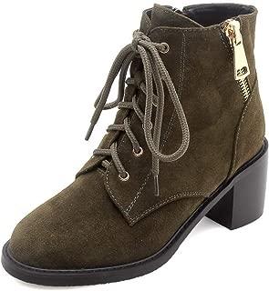 BalaMasa Womens Nubuck Warm Lining Solid Leather Boots ABM13571