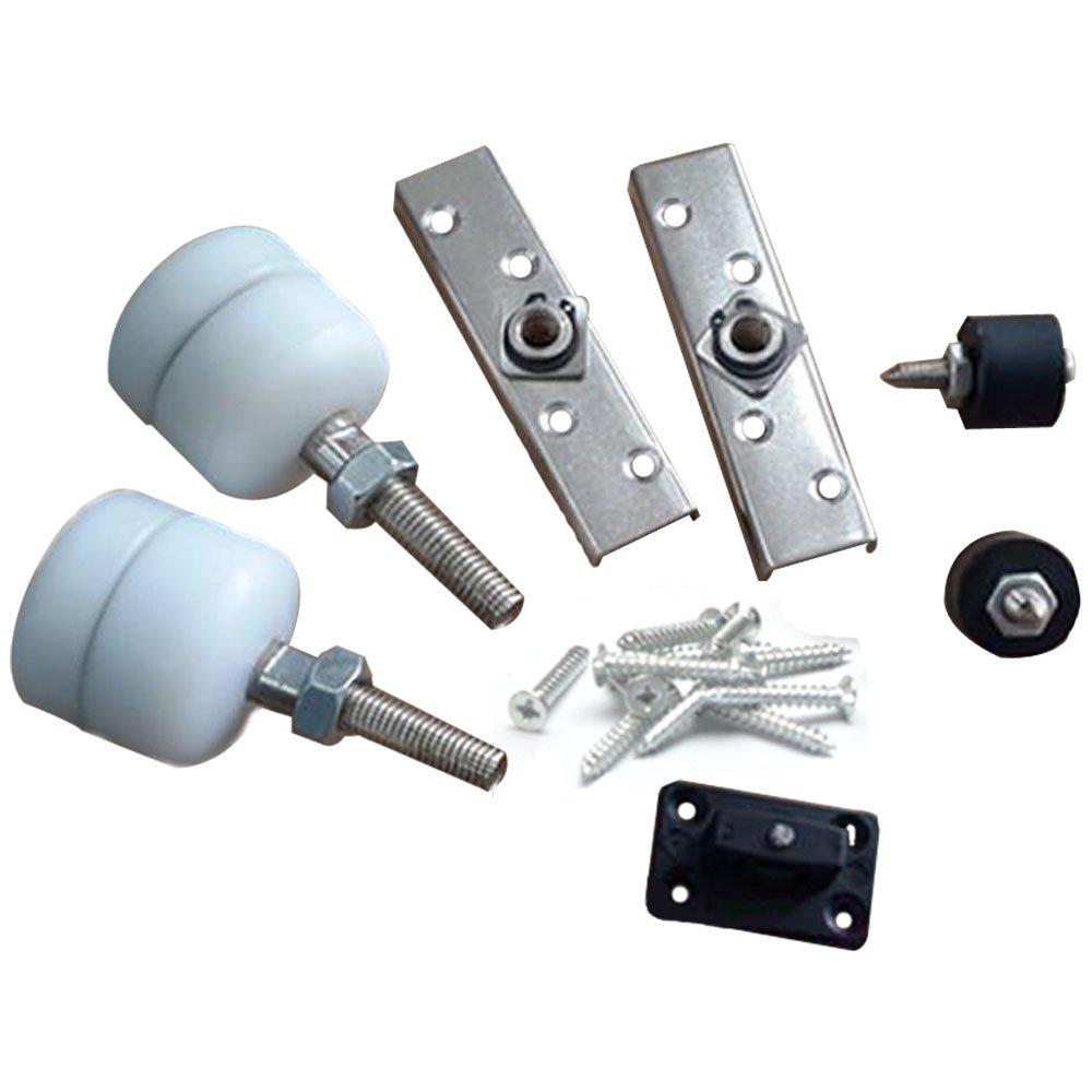 yuanqian Universal rueda de puerta corredera de puerta corredera plegable para colgar puerta rodillos de madera para colgar de la puerta rueda: Amazon.es: Bricolaje y herramientas