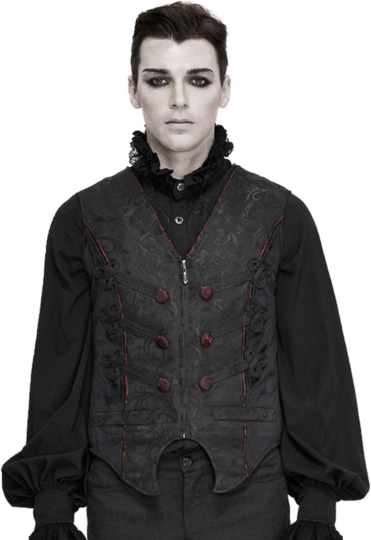 NC Devil Fashion Men's Gothic Dress Vest Gentleman Gorgeous Fashion Party Dinner Swallowtail Waistcoat
