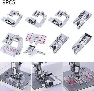 AC Sewing Machine Feet.Include 3pcs Narrow Rolled Hem Presser Feet,3Pcs Rolled Hem Pressure Foot,Adjustable Guide Foot, Bias Binder Foot,Border Guide Foot,fit Brother,Singer Sewing Machine(Low Shank