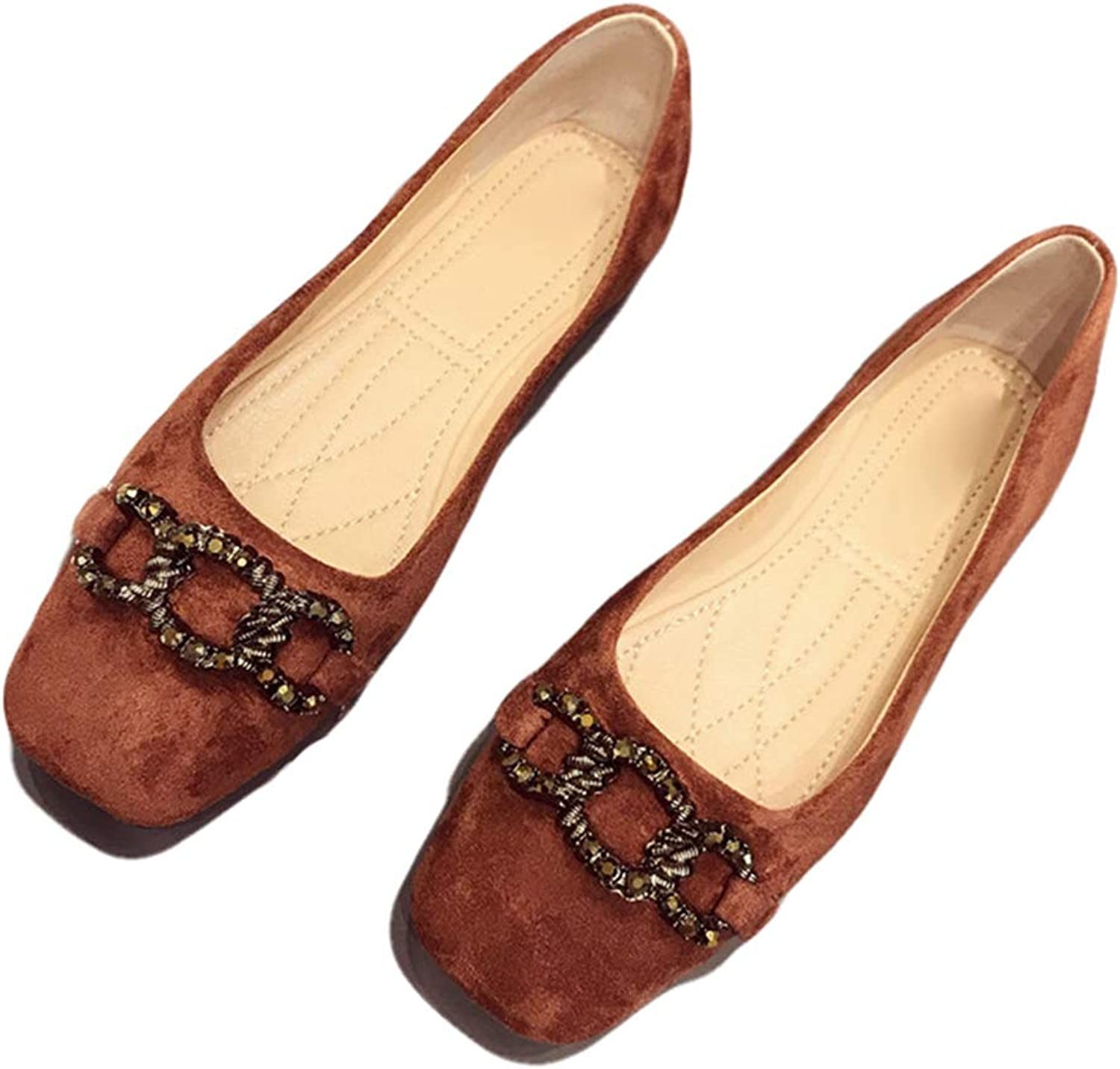 Kyle Walsh Pa Women Ballet Flats Square Toe Slip-on Female Casual Comfortable Loafers shoes