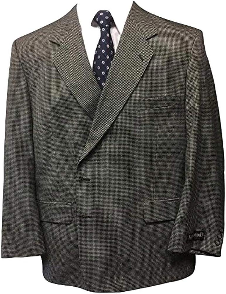 Stout Mens Shop 50 Short Portly Executive Grey Mini Check Sport Coat 50PS