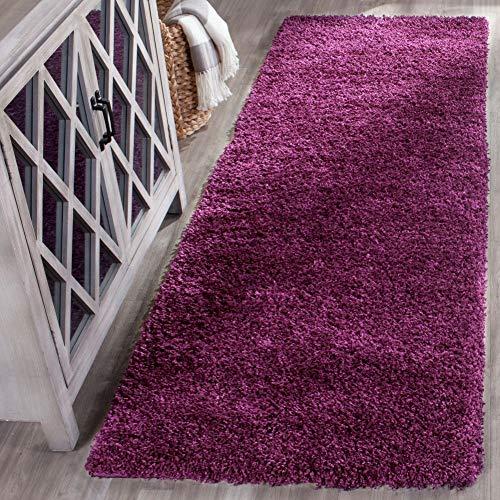 Safavieh California Premium Shag Collection SG151-7373 Runner, 2' 3' x 15', Purple