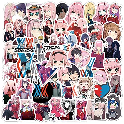 HHSM Nuevas pegatinas de anime graffiti equipaje portátil impermeable pegatinas 50 piezas