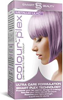 Smart Beauty | Metallic Lilac/Purple Permanent Hair Dye | Professional Salon Quality Hair Color | Crazy Color with Smart P...