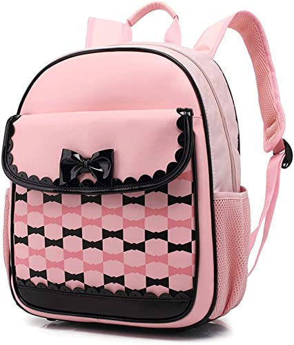 Kinder Schultasche Schulrucksack Gründschüler Buch Tasche Reisetasche (Farbe   Rosa)