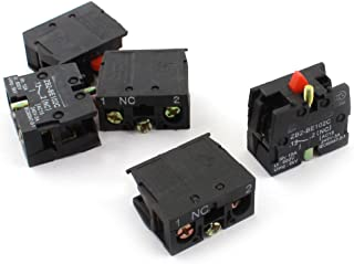 uxcell 5Pcs AC600V 10A NC Momentary Pushbutton Switch Auxiliary Contact Block