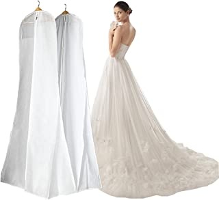 Manfei Wedding Dress Bags Bridal Gown Garment Bag for Mermaid Wedding Dress (180CM, Ivory)
