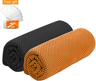 Bgudee Instant Relief Cooling Towels (2 Pack), Ice Towel for Sports, Gym, Yoga, Workout, Fitness, Pilates, Travel, Running, Hiking, Camping & More (40