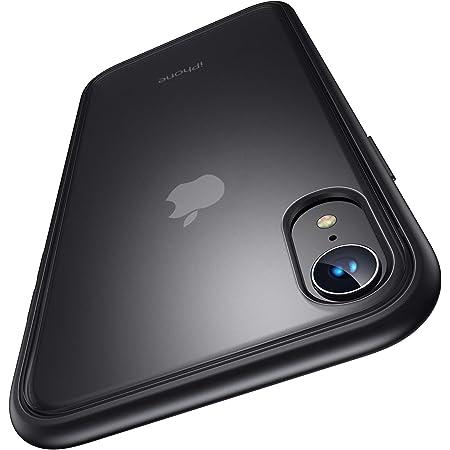 4段階衝撃防止 Humixx 半透明 iPhone XR ケース iPhone 10r ケース 滑り止め 米軍MIL規格取得 ワイヤレス対応可能 マット加工 黄ばみなし レンズ保護 6.1インチ アイフォンxr カバー スマホケース [Shockproof Series ブラック