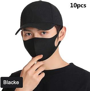 SEGIBUY 10 stuks Fashion Protective gezichtsmasker, unisex Black Dust Cotton mondmasker, wasbaar, herbruikbare maskers