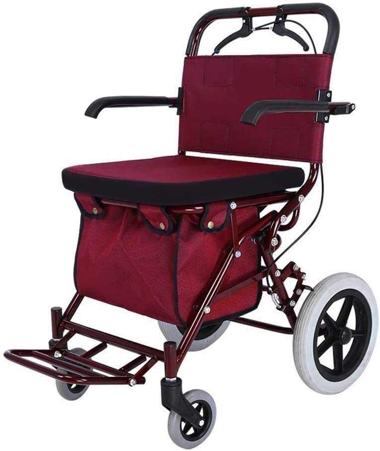 Walker New life for sale Seniors Rollator Foldable Mobility Four-W Aid Walking