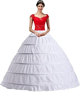 Women Crinoline Hoop Petticoats Skirt Slips Floor Length Underskirt for Ball Gown Wedding Dress