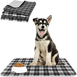 KOOLTAIL Washable Pee Pads for Dogs - Waterproof & Non-Slip Plaid Puppy Potty Training Pads, Reusable Whelping Pads, Pee P...