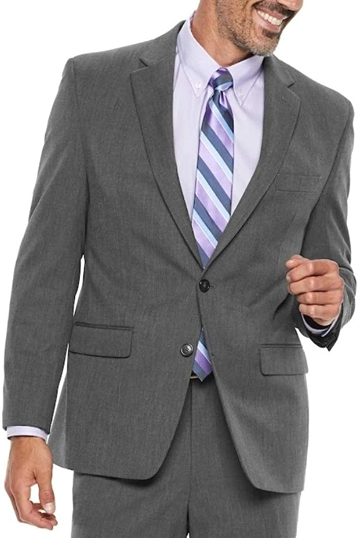 Chaps Men's Performance Series Classic-Fit Stretch Coat Blazer Jacket Cardinal Grey