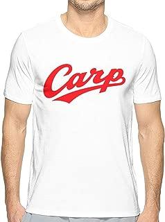 シャツ メンズ Carp Hiroshima 広島東洋カープ 半袖 丸首 創意デザイン 3Dプリント 面白男女兼用 トップス快適 無地 軽い 柔らかい カジュアル ファション ホワイト スウェット