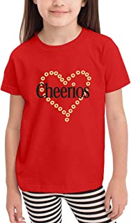 YuHoodieys Cheerios Heart Crew Neck Short Sleeve Tee for Toddler Kids