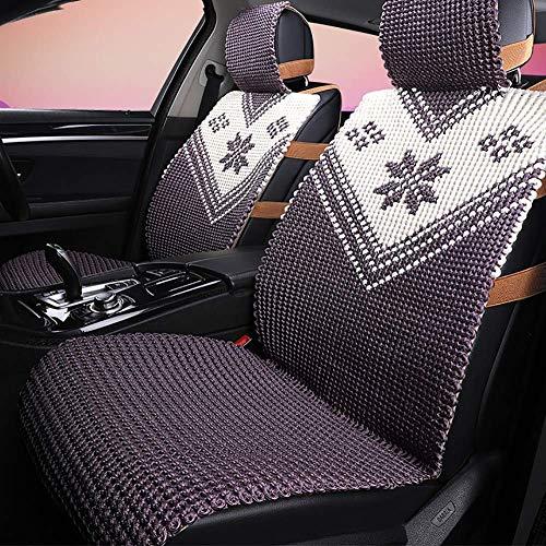 Autostoel high-end handgemaakte zijde autostoel vier seizoenen linnen cool pad stoelbekleding universeel - modern autoaccessoire kussen (kleur: C)