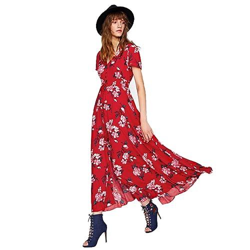 842ed130cb553 Red Floral Dress: Amazon.com