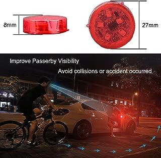 YOJOHUA 2 Pack Car Door Warning Light 5 LED, Magnetic Sensor Flashing Warning Light, Waterproof Anti-Collision Gate Warning Strobe Light for Anti Rear-End Collision (Red)