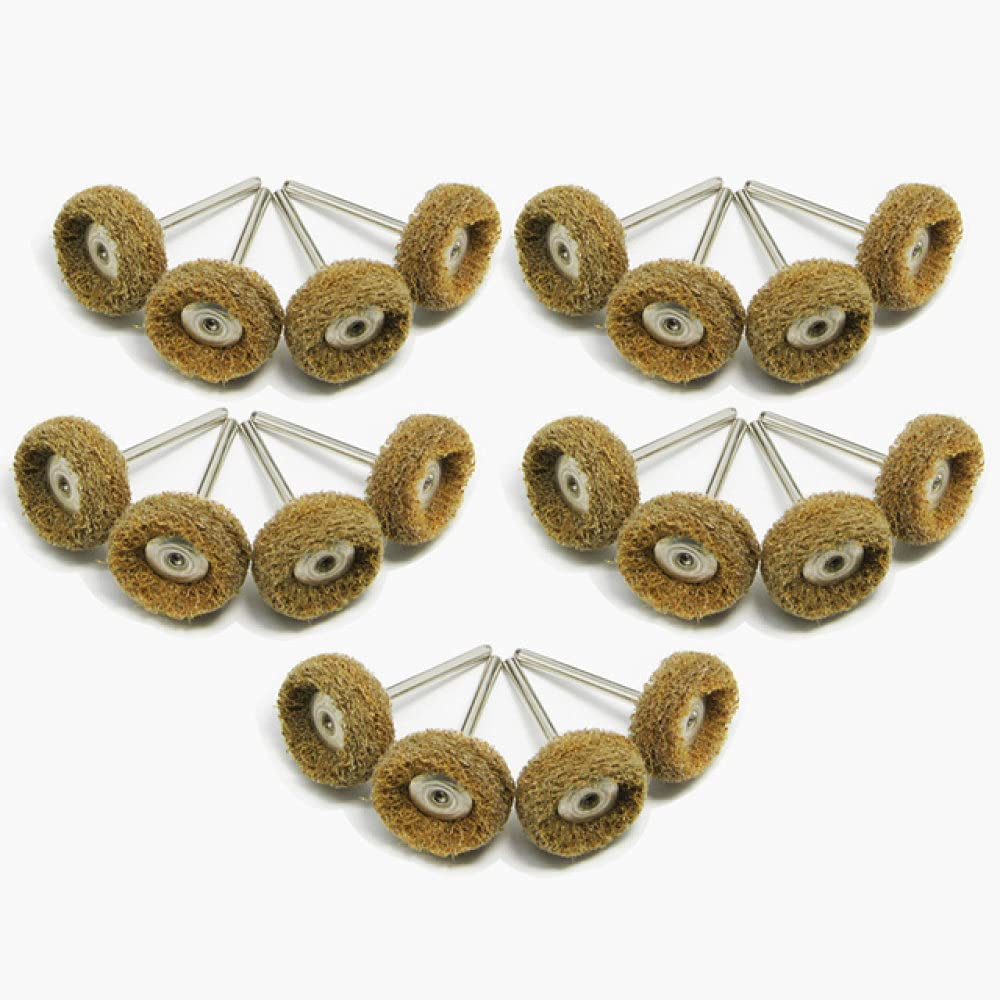 20pcs Mini Drill Abrasive Over item handling ☆ Nylon Buffing Polishing Brush 3 New Orleans Mall Wheels