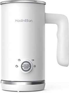 HadinEEon Milk Frother, 4 in 1 Electric Milk Frother and Steamer, Automatic Milk Foam Maker & Warmer (5.1 oz/10.1 oz), Coffee Frother Milk Heater for Making Latte, Cappuccino, 120V