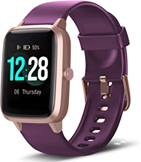 Smart Watch Fitness Tracker Heart Rate Monitor Step Calorie Counter Sleep Monitor Music Control IP68 Water Resistant 1.3