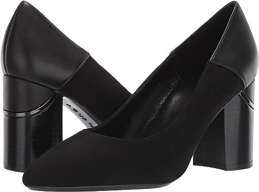 Black/Black Dress Suede/Calf