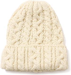 HIGHLAND2000(ハイランド2000) BOB CAP(ウール ニット帽) ARAN(アラン/白)[ケーブル編み/毛糸][キャップ/帽子/ビーニー][メンズ/レディース/男女兼用]