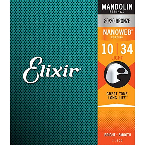 Elixir 11500 Mandolin Saiten Saiten 8 Light Acoustic Nanoweb Coating