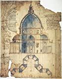 Florence Brunelleschi Ncross-Section Of Filippo BrunelleschiS Design For The Dome Of Santa Maria Del Fiore Cathedral In Florence Italy Contemporary Drawing By Lodovico Cardi Da Cigoli Poster Print by