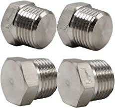 Horiznext npt 1/2 Male Threaded hex Head Pipe Plug, Stainless Steel 304,(Pack of 4)