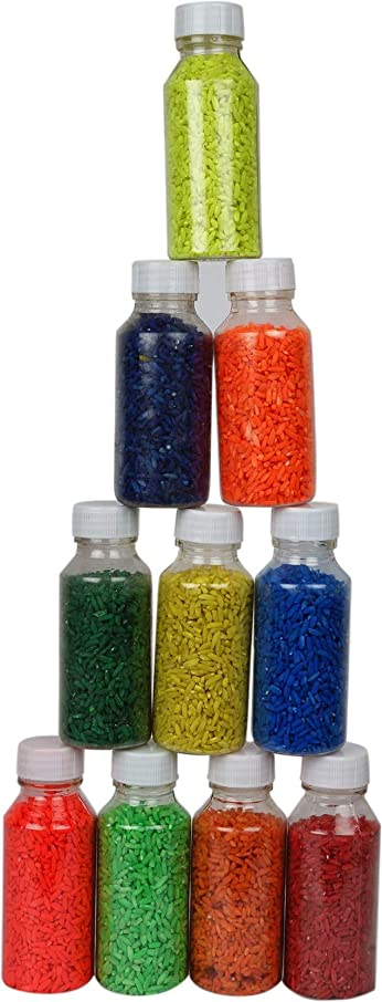 Odishabazaar Ready to Draw Rangoli Making Kit (10-Powder Color)