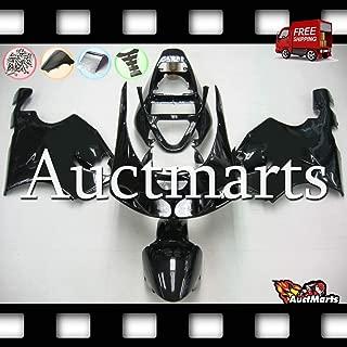 Auctmarts Fairing Kit ABS Plastics Bodywork with FREE Bolt Kit for Kawasaki ZX7R ZX-7R 1996 1997 1998 1999 2000 2001 2002 2003 Plain Solid Gloss Black (P/N:3n8)