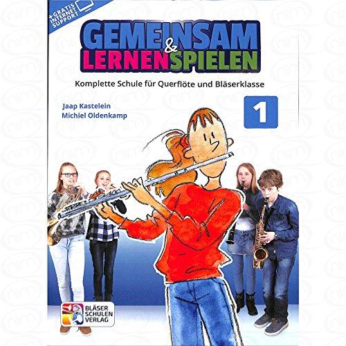 Gemeinsam lernen + spielen 1 - arrangiert für Querflöte [Noten/Sheetmusic] Komponist : OLDENKAMP MICHIEL + KASTELEIN JAAP