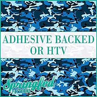 Classic CAMO Pattern #1 in BLUE Navy Camouflage Heat Transfer or Adhesive Vinyl CHOOSE YOUR SIZE!